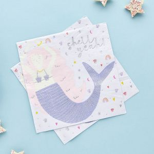 Servetten mermaid Enchanted (20st) Hootyballoo