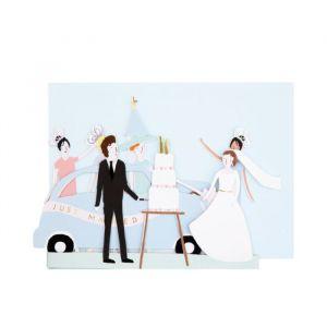Wenskaart Just Married Meri Meri