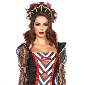 Wonderland hartenkoningin kostuum dames Leg Avenue