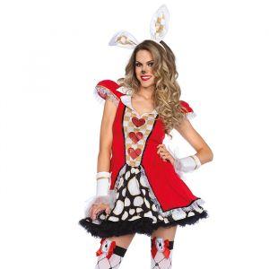Witte Konijn Wonderland kostuum dames Leg Avenue