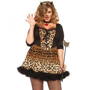Wildcat kostuum dames (maat 46/48) Leg Avenue