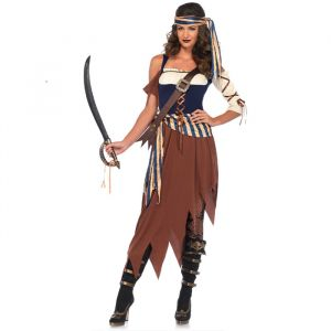 Caribbean Castaway Pirate kostuum dames Leg Avenue