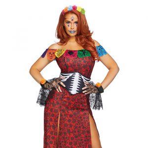 Day of the Dead Deluxe kostuum dames Leg Avenue