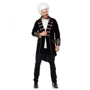 Deluxe Velvet Coat kostuum heren (maat M/L) Leg Avenue