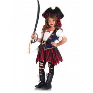 Caribbean Pirate kostuum meisjes Leg Avenue