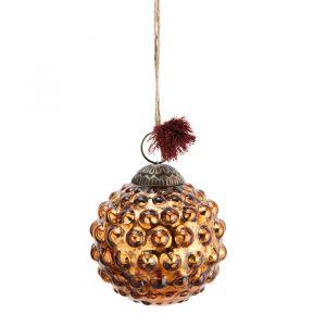 Glazen kerstbal Dots copper (7cm) Madam Stoltz