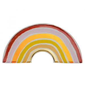 Bordjes Rainbow Love roze-goud (8st)