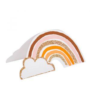 Plaatskaartjes Rainbow Love roze-goud (8st)