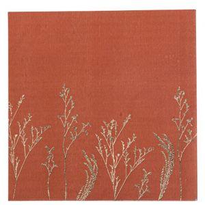 Servetten Twigs Terracotta (16st)