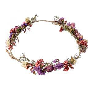 Bloemenkrans droogbloemen roze