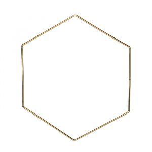 Metalen decoratie hexagon (30cm)