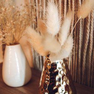 Mini droogbloemen pluimpjes creme (12st)