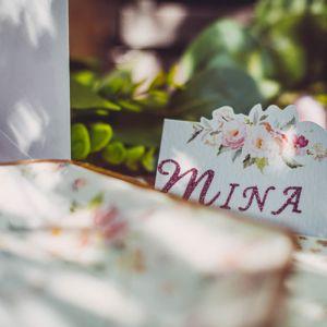 Plaatskaartjes Pink Flowers (10st)