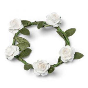 Servetringen bloemen wit (5st)