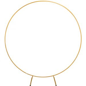 Metalen backdrop circkel goud (2m)