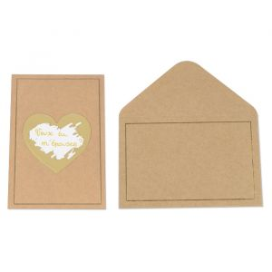 Kraskaarten hart kraft (5st)
