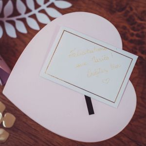 Kraskaarten hart wit (5st)