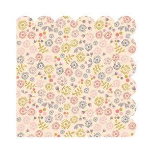 Servetten Petites Fleurs roze (20st) Maileg