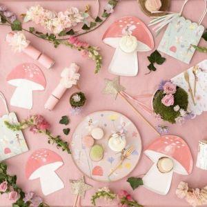 Bordjes paddenstoel Fairy (8st) Meri Meri
