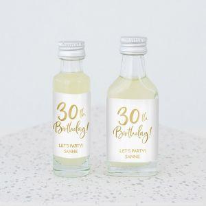 Mini flesje birthday goud 30
