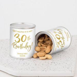 Pindablikje verjaardag birthday goud 30