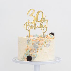 Taarttopper verjaardag birthday goud 30
