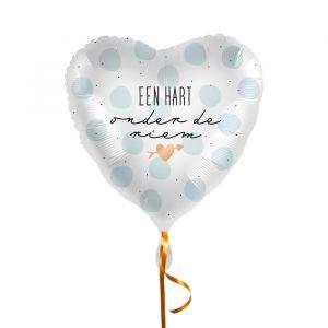 Folieballon Een hart onder de riem