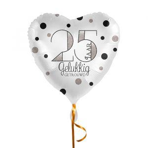 Folieballon hart 25 jaar getrouwd (43cm)