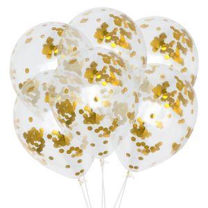 Confetti ballonnen goud (6st) House of Gia