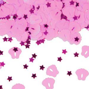 Sterren en Voetjes Confetti Roze
