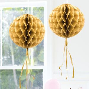Honeycomb 30cm Goud