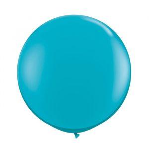 Premium Mega ballonnen 90cm Turquoise (2st)
