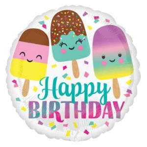 Folieballon Happy Birthday Ice Cream