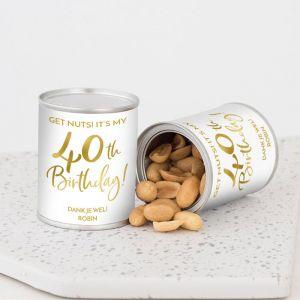Pindablikje verjaardag birthday goud 40