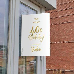 Raambord verjaardag birthday goud 40