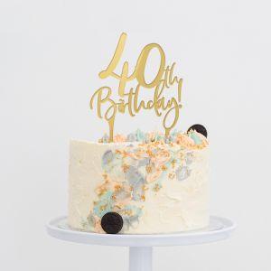 Taarttopper verjaardag birthday goud 40