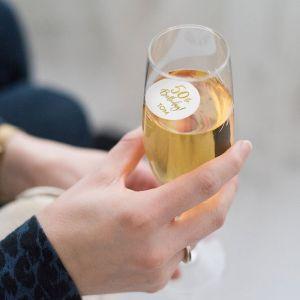 champagnemuntje birthday goud 50