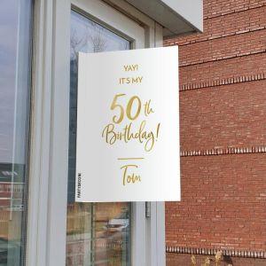Raambord verjaardag birthday goud 50