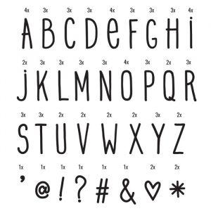 Symbolenset Handwriting voor lightbox A4 & A5