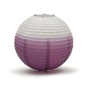Lampion ombre paars