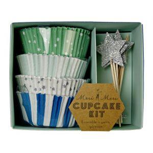 Cupcake set Toot Sweet blauw
