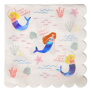 Servetten Let's be Mermaids Meri Meri (16st)