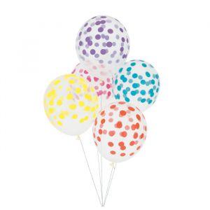 Confetti Ballonnen Kleurmix (5st)