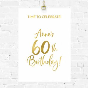 Verjaardag poster birthday goud 60