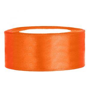 Satijnlint op rol 25mm (25m) Oranje