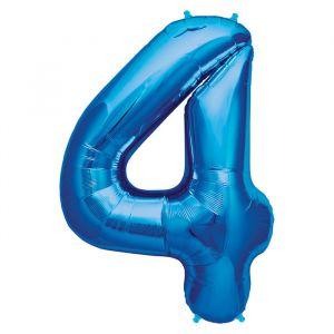 XL Folieballon 4 ( 90 cm ) Blauw