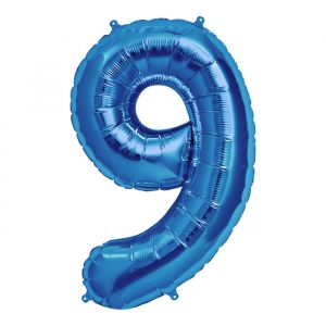 XL Folieballon 9 (90cm) Blauw