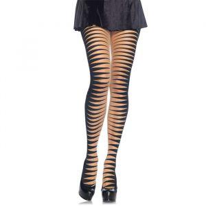 Hoge kousen Cirque Stripes zwart Leg Avenue