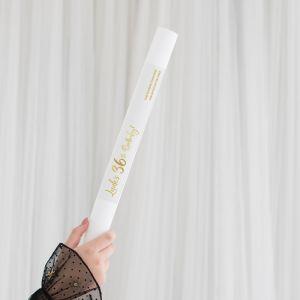 Foam stick met personalisatie birthday goud leeftijd