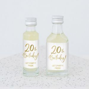 Mini flesje birthday goud leeftijd